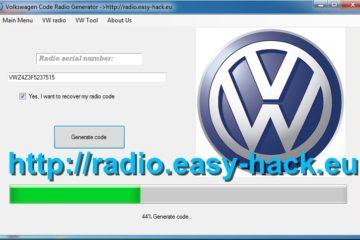 vw radio code decoder generator volkswagen