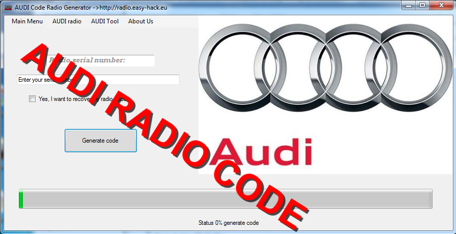 How To Get Audi Radio Code for Free Decoder