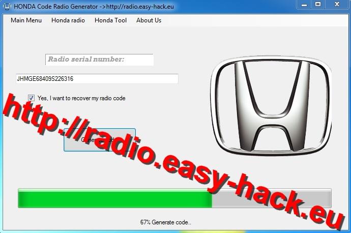 honda radio code error