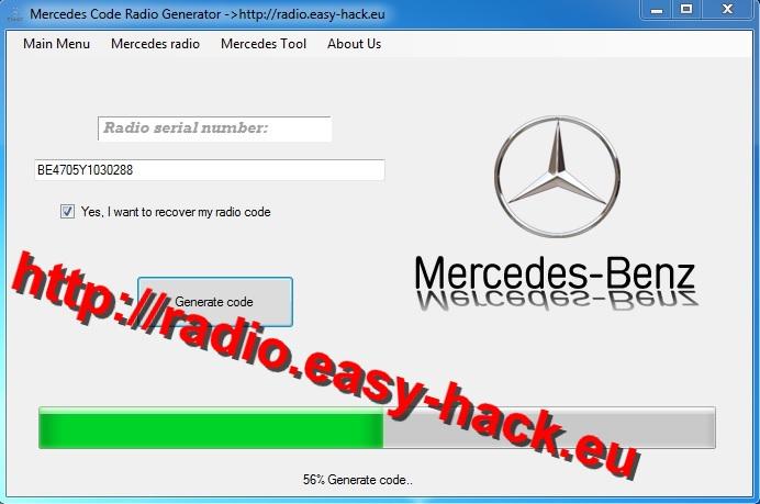 mercedes radio code free