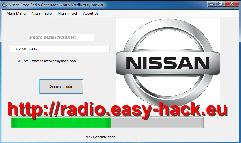 How To unlock Nissan Radio Code