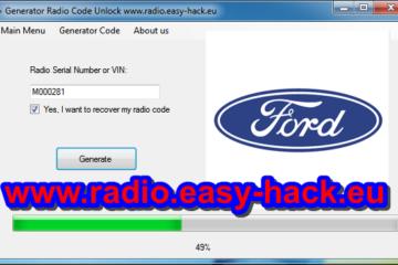 How to unlock Ford Radio Code Fiesta Focus Transit calculator