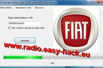Stereo Unlock Free Fiat Radio Code calculator Punto, Panda, Bravo, Scudo, Stilo