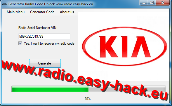 Help with Kia security code - KIA Radio Code