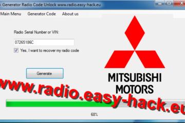 mitsubishi radio code generator calculator download