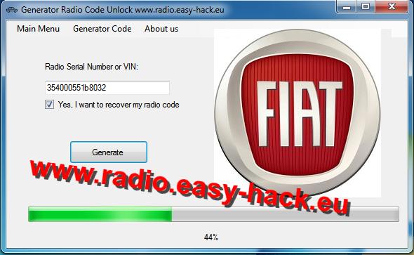 Stereo Unlock   Free Fiat Radio Code