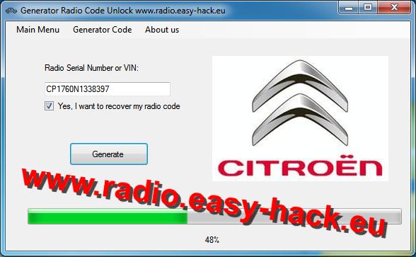 Citroen Radio Code Generator To Unlock All Citroen Car Radio Models