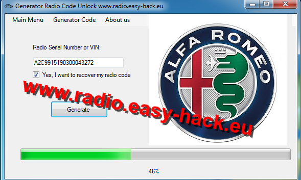 How to get your Alfa Romeo Radio Code - Alfa Romeo Radio Code Generator