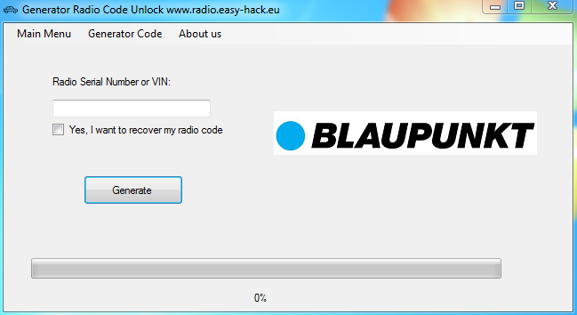 Blaupunkt CAR 300 - How to unlock radio code from SERIAL NUMBER free