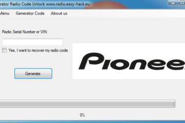 unlock Pioneer radio code generator free