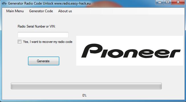 How unlock Pioneer x930bt AVIC-F930BT radio code generator free
